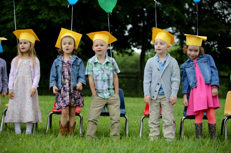 Graduates with Balloons